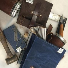 Pin these awesome handmade leather and canvas accessories! *alloutadventuresupply.com* #leather #handmade #giftsforhim #dapper #mensgifts #canvas #beauty #shop