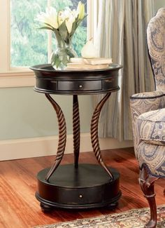 Antique Shoppe Accent Table in Dark Brown Mahogany Finish * You can get more details by clicking on the image. (This is an affiliate link and I receive a commission for the sales)