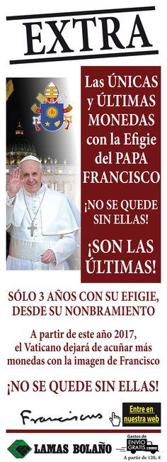The last coins of Pope Francisco @Pontifex_es . Shop: http://bit.ly/2jGAoWD  #Vaticano #coins #PopeFrancis @LamasBolano #monedas