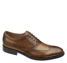 Johnston & Murphy: TYNDALL WINGTIP - Saddle Tan Italian Calfskin Love me a man in these <3