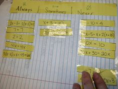 Learning with Tape: Pre-Algebra Topics ISN Pages