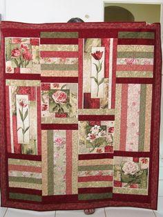 Ideas for patchwork quilt beginner scrap Jellyroll Quilts, Rag Quilt, Panel Quilts, Quilt Blocks, Sewing Patterns Free, Free Sewing, Quilting Patterns, Baby Patterns, Quilting Ideas