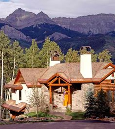 The exterior log truss accents this home with a breathtaking view nicely!