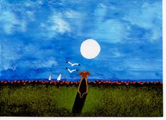 Airedale+Welsh+Terrier+Dog+Original+folk+Art+by+ToddYoungArt,+$49.95