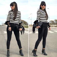 jersey navy - Temporada: Primavera-Verano - Tags: look, ootd, fashion, blogger, moda, streetstyle - Descripción: look black and white #FashionOlé