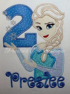 Frozen Elsa Birthday Tshirt or onesie. by Presleeschicboutique, $35.00
