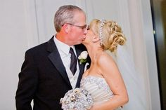 Size is perfect  Light to hold.  25 yrs of designing the brooch bouquet