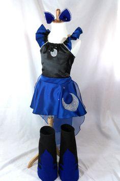 Princess Luna Costume Top Skirt Cape Boots Ears by LittleLadyDiva