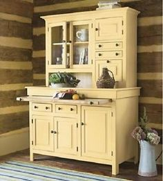 Would be cute for dishes and kitchen storage | For the Home/Organization | Pinterest | Furniture Dishes and Su2026 & Used 2 pieces of old furniture to make a hutch. Would be cute for ...