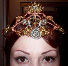 Custom OOAK Steampunk tiara options. Steampunk jewelry. Steampunk fashion
