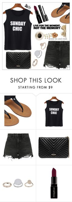 """""""Live for the moment"""" by simona-altobelli ❤ liked on Polyvore featuring Alexander Wang, GUESS by Marciano, Topshop, Smashbox and Chanel"""