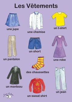 Poster - Les Vêtements - Little Linguist