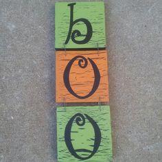 Handmade Halloween signs #halloween #boo