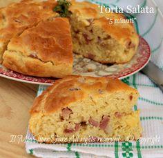 Torta salata 5 minuti ricetta rustico impasto molle con lievito istantaneo