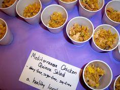 Addictive Mediterranean Chicken-Quinoa Salad (serve hot or cold)