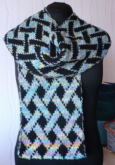 Ravelry: Vernetzt pattern by Martina Niedermeier Knit Cowl, Knitted Shawls, Knit Crochet, Knitting Scarves, Double Knitting, Neck Warmer, Mittens, Hermes, Needlework