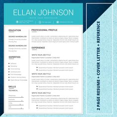 21 Resume bundle Best seller resume template resume image 2 Creative Cv Template, Modern Resume Template, Resume Templates, Flyer Template, Word Cv, Ttf Fonts, One Page Resume, Get More Followers, Cover