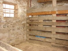 Stall in bank barn