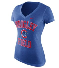 NIKE WOMENS Chicago Cubs Local Phrase Tri-Blend Tee