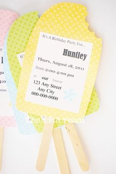 Party Invitations Ideas! http://www.theidearoom.net/2011/08/birthday-party-invitation-idea.html