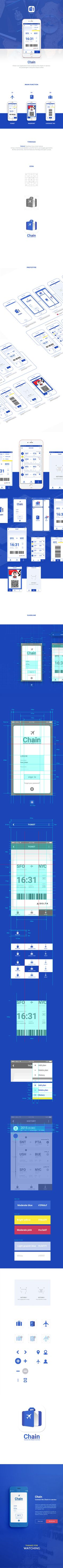Connect the Check-in Service, Chain on Behance