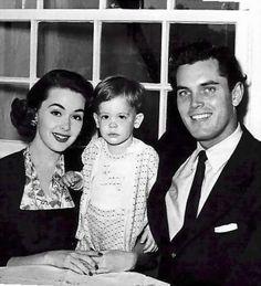 Barbara Rush and husband Jeffrey Hunter