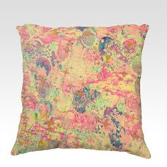 TIME FOR BUBBLY Always  Fine Art Velveteen Throw Pillow, Decorative Home Decor Colorful Fine Art Toss Cushion, Modern Bedroom Bedding Dorm Room Living Room Style Accessories by EbiEmporium, $75.00
