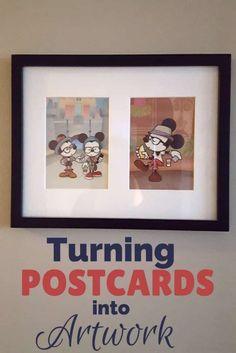 Turning Disney Postcards into Art