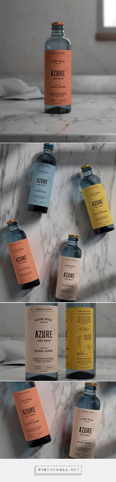 Azure Tonic Water by Pep Bernat Vizcaya. Source: Daily Package Design Inspiration. Pin curated by #SFields99 #packaging #design