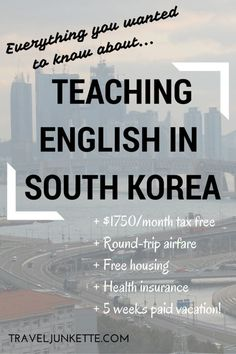 Everything you want to know about teaching English in #Korea -- great #travel job!