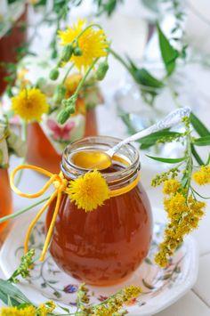 Löwenzahn-Gänseblümchen-Honig