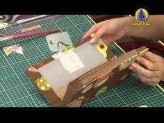 Tudo Artesanal | Livro de Receita por Cláudia Wada - 21 de Maio de 2013 Claudia Wada, Book Crafts, Paper Crafts, Bookbinding Tutorial, Altered Boxes, Scrapbook, Handmade Books, Book Binding, Writing A Book