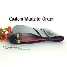 Leather Three Ring Binder / Portfolio - Custom Made to Order by 4LoveandArt on Etsy https://www.etsy.com/listing/245434020/leather-three-ring-binder-portfolio
