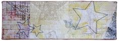 "Americana III, 8x24"" quilted art on canvas by Kristin La Flamme."