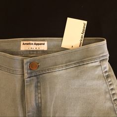 American Apparel Easy Jean High-waisted Jean, soft stretch denim molds to the shape of your body for a super flattering fit. American Apparel Jeans Skinny