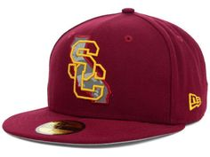 USC Trojans NCAA State Reflective 59FIFTY Cap Hats