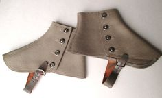 Antique WOOL SPATS for STEAMPUNK or by myunlimitedvision on Etsy