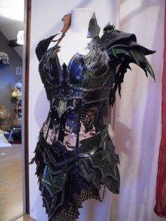 Druchii female leather armor + corset by ~Deakath on deviantART