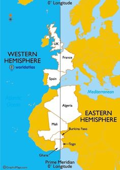 Countries in Both the Eastern and Western Hemispheres Ap Human Geography, Geography Map, World Geography, Teaching Geography, Physical Geography, American History Lessons, City Maps, Earth Science, Things To Know
