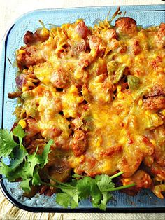 spicy Mexican pasta bake -- spice is nice and Ortega does it right - ortega.com #mexicandinner #spicy #mexover