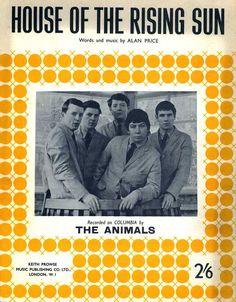 1964 The Animals sheet music sheet