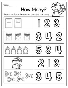 Back to School Math and Literacy Packet Of Free Kindergarten Math Worksheet Packets Printable Preschool Worksheets, Free Kindergarten Worksheets, Kids Math Worksheets, Kindergarten Learning, Preschool Learning Activities, Preschool Math, Math Literacy, Back To School Worksheets, Math Math
