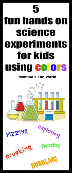 Fun and colorful science experiments kids will love!
