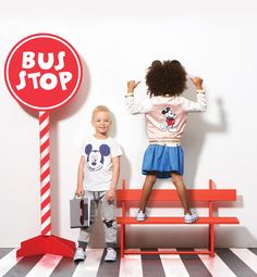 Mickey Bus Stop. We love this look Toddler fashion setters. Baby Outfits Newborn, Toddler Outfits, Baby Boy Outfits, Kids Outfits, Toys R Us Kids, Animals For Kids, Black Kids Fashion, Toddler Fashion, Kids Fashion Photography