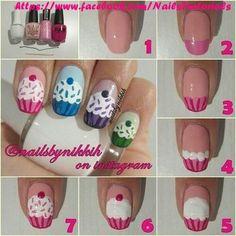 Fingernails: Cupcakes