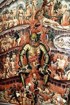 """Francesco Traini o Buonamico Buffalmacco- """"Il Trionfo della Morte"""" (particolare) - 1325-1350 - affresco - Camposanto monumentale di Pisa, Toscana."""
