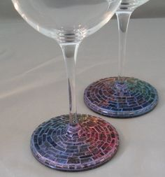 These are 20oz real crystal, very light weight even with the mosaic base.