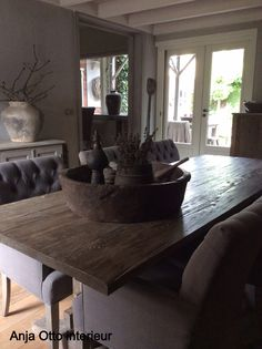 1000 images about stoer sober on pinterest rustic style rustic charm and shades of grey - Eetkamer deco ...