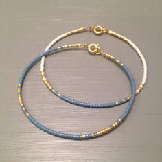 Minimal bracelet Blue gold Bangle Bracelet Simple par ToccoDiLustro