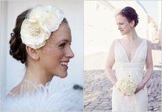 birdcage veils for weddings | romantic wedding hair accessory birdcage veil | OneWed.com